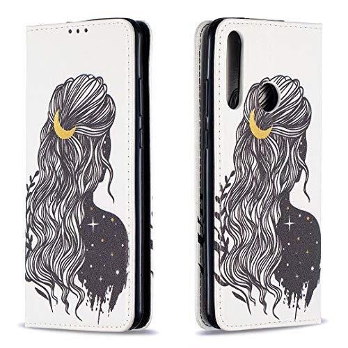 Miagon Brieftasche Hülle für Huawei Y7P/P40 Lite E,Kreativ Gemalt Handytasche Case PU Leder Geldbörse mit Kartenfach Wallet Cover Klapphülle,Mädchen