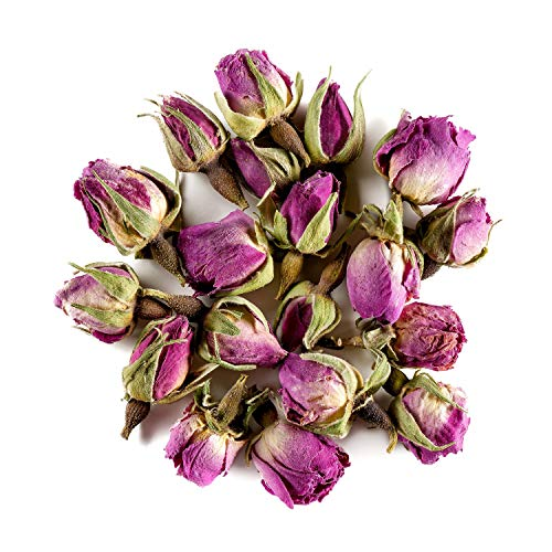 Damaszener Rose Knospen Bio Tee – Wohltuend süß - Organischer Rosa damascena knospe - Süße rosenblütenblätter - rosenblütentee - rosenknospen Keim 100g