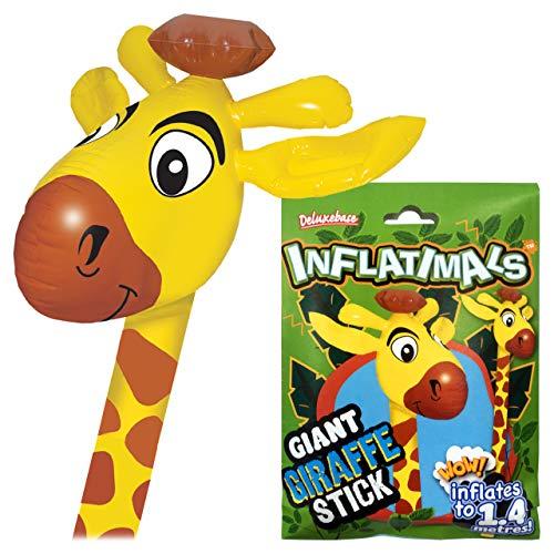 Deluxebase Inflatimals - Giraffe Riesiges aufblasbares Meerestier Aufblasbares Spielzeug. Perfektes aufblasbares Partygeschenk oder Partydekoration für Kinder