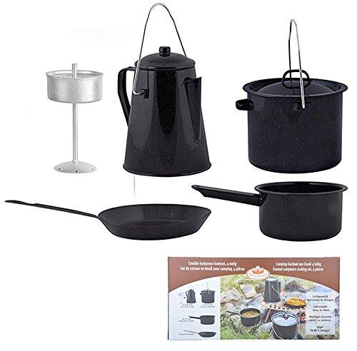 Esschert Design Outdoor Kochset aus Metall,18,4 x 16,5 x 22,3 cm