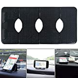 ZC GEL Car Dashboard Mat Phone Holder, Multiple Folding Cell Phone Holder with Washable Reusable Dashboard Sticky pad for Phone,Sunglasses, Coins, Keys and More
