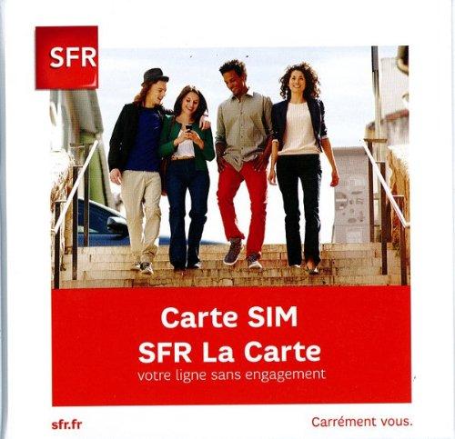carte sim sfr prepayee; carte prepayee sfr avec 5 euros de credit