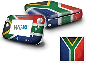 Nintendo Wii U Console and GamePad Decal skin Sticker - Flag of South Africa