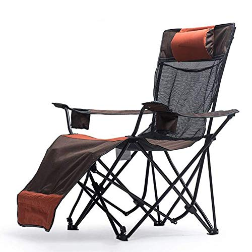 WGFGXQ Recliner Chair Heavy Duty 3-Position with Adjustable High Back and Footrest - for Camping, Beach, Outdoor Festivals, Support 130kg