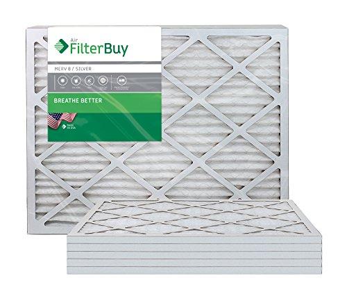 AFB Silver MERV 8 Luftfilter 20x24x1 Plissee AC Ofen Luftfilter 6 Stück Filter Hergestellt in den USA.