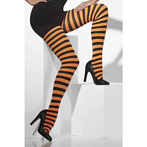 Party Pro- Collant rayé noir/orange, Femmes, 87270002, 42