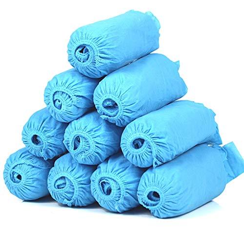 Amxba 200 stks Wegwerp Schoen Covers Waterdichte Niet Slip Schoen Boot Covers voor Bouw Werkplaats Indoor Tapijt Vloerbescherming Roze en Blauw xie (Kleur : Blauw)