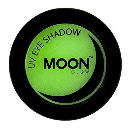 Moon Glow – Ombre à paupières néon UV 3.5g Vert qui produisent un effet fluo incroyable sous la lumière ultraviolette ou noire !