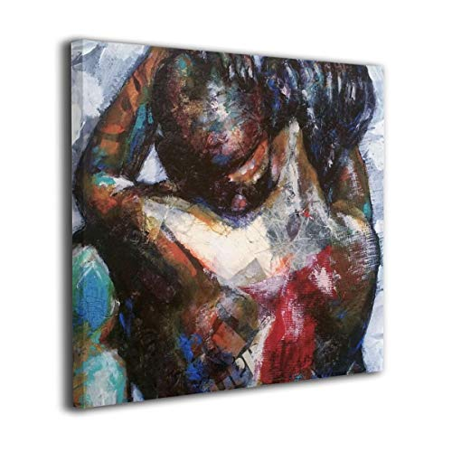 Fu Qi Rui Shang Mao Canvas Wall Art Prints African American Couple Picture Paintings Contemporary Home Decoration Giclee Artwork Wood Frame Gallery Stretched 20'x20'