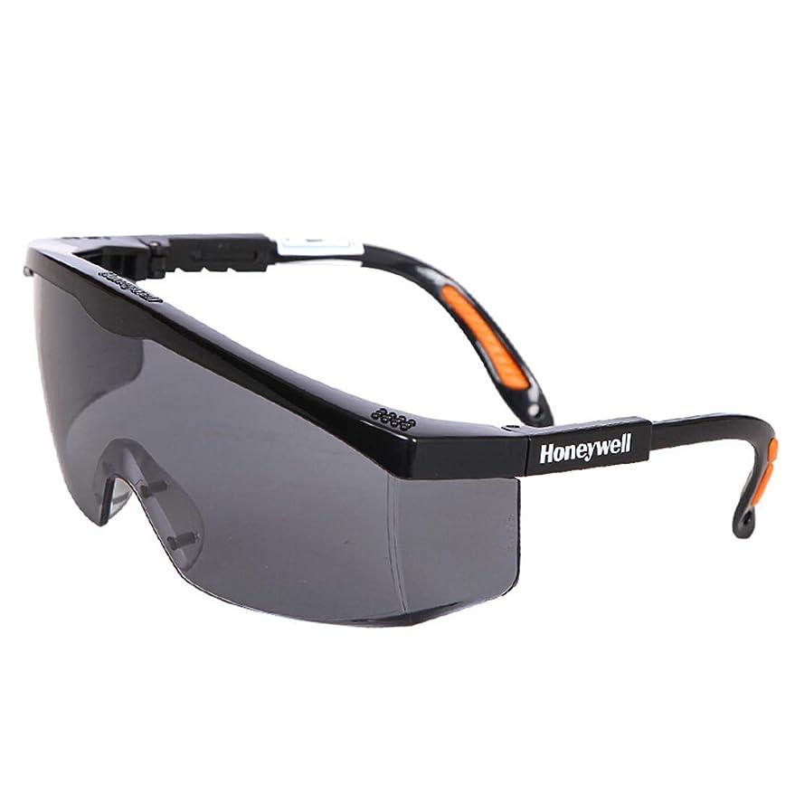 保護めがね アンチスクラッチセーフティメガネ 二眼型 オーバーメガネ調節防曇用保護ゴーグル男性用および女性用安全メガネ防衝撃 軽量
