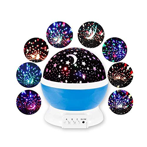 SVK Dream Star Night Light, 360 Degree Rotation Baby Night Light Moon Starry Sky Projector Bedside Lamp for Baby Room, Unique Gifts for Kids multi color