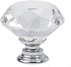 Aiglen 10 / stks 30mm Diamond Shape Design Crystal Glass Koffiekast Trekt Lade Knoppen Keukenkast Handgrepen Meubels Handv...