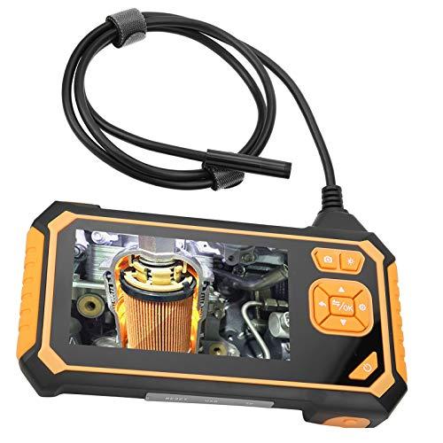 Endoscopio Digital Industrial de Doble Lente Impermeable de 8 mm, con Pantalla LCD de 4,3 Pulgadas 1080P y 6 luces LED, para Mantenimiento de Automóviles(10m)