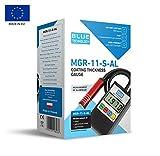Blue Technology MGR-11-S-AL. Medidor de Espesor de Barniz, probador, Detector, Acero y Aluminio, Fabricado en UE, Negro, 11cm x 6,5cm x 2,8cm