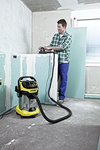 Kärcher WD 6 P Premium Aspirateur multifonction avec Prise d'asservissement/Cuve 30 L 1300 W Noir/Jaune