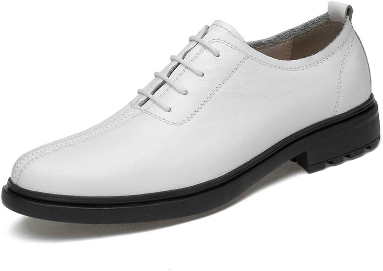 2018 Mens schuhe, Männer Business Oxford Schuhe, Casual Soft Light Herren Atyle Low Top Runde Formale Schuhe (Farbe   Weiß, Größe   42 EU)  | Nicht so teuer