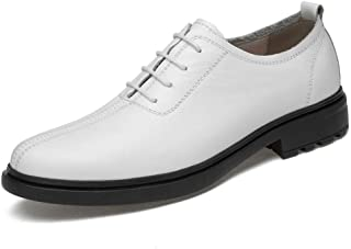 Men's Business Oxford Casual Indulgent Light Gentlemen Atyle Low Top Round Toe Stately Shoes casual shoes (Color : White, Size : 43 EU)