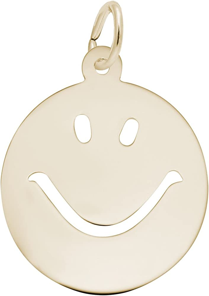 Happy Face Charm, Charms for Bracelets and Necklaces