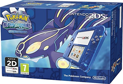 Nintendo 2Ds Transparent Blue with Pokemon Alpha Sapphire [Importación Inglesa]