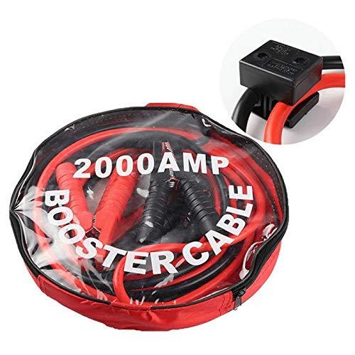 Accesorios de la batería 2200AMP Black & Red Jump Places para el cable de elevación del automóvil Cable de emergencia Alambres de puente de batería con abrazadera de clip ( Color : 3m With protector )