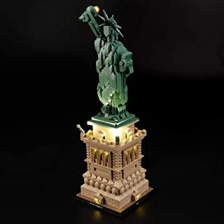LIGHTAILING Light Set for (Architecture Statue of Liberty) Building Blocks Model - Led Light kit Compatible with Lego 21042(NOT Included The Model)