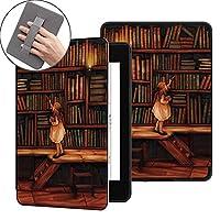 電子書籍の保護カバー PUレザープリントフリップスマートカバー、オートウェイクウェイク/スリープ機能を備えたKindle Paper Paper Generation(10th Gen-2018)に適しています。 睡眠/覚醒機能 (Color : Handheld reading1)
