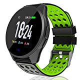 Kemier Smart Watch,Blood Pressure and Heart Rate Monitor,Fitness Tracker with Sleep Monitor,Running Activity Tracker,1.3 in Color Touch Tracking Smartwatch with Pedometer,Calorie Counter for Men Women