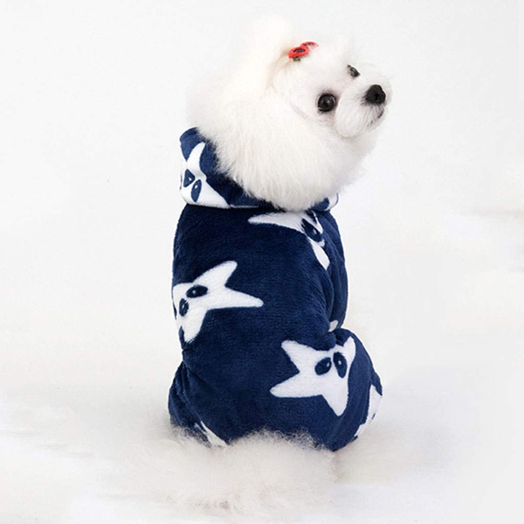 Kaiki Hunde Kleidung Fleecemantel Hundemantel Hundepullover mit Kapuze Four Beins Winter Strickpullover Sweater Cardigan Weihnachten Fasching Kost/üme