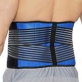 Faja lumbar de neopreno con tiras dobles de compresión - Sujeción para la parte baja de la espalda - Marca Neotech Care (Azul, XXXXL)