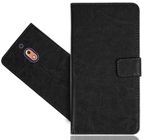 Nokia 2.1 / Nokia 2 2018 Handy Tasche, FoneExpert® Wallet Hülle Cover Genuine Hüllen Etui Hülle Ledertasche Lederhülle Schutzhülle Für Nokia 2.1 / Nokia 2 2018
