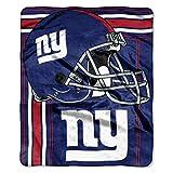 Officially Licensed NFL New York Giants 'Touchback' Plush Raschel Throw Blanket, 50' x 60', Multi Color