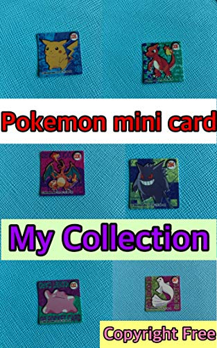 Pokemon mini card collection Japanese Pocket monster collector Vintage card copyright free (English Edition)
