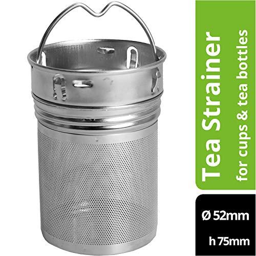 amapodo Teesieb plastikfrei für losen Tee Edelstahl Teeei Filter groß und fein mit Henkel Teefilter für Teekanne Tasse Teeflasche