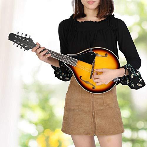Mandoline Saiten Instrument,8 Saiten Instrument mit Aufbewahrungstasche,Elektrisch Mandoline Instrument ist Pefekt Geschenk für Freund oder Musikliebhaber,70 x 27,5 x 5 cm
