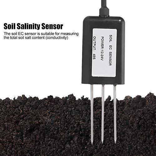 Best Deals! AUNMAS RS485 Waterproof Soil Salinity EC FC Sensor Transmitter Soil Conductivity Detecto...
