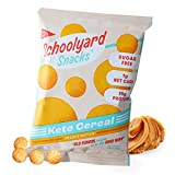 Schoolyard Snacks Low Carb Keto Cereal - Peanut Butter - High Protein - All Natural - Gluten & Grain-Free - Healthy Breakfast - Low Calorie Food - 12 Pack Single Serve Bags - 100 Calories Snack