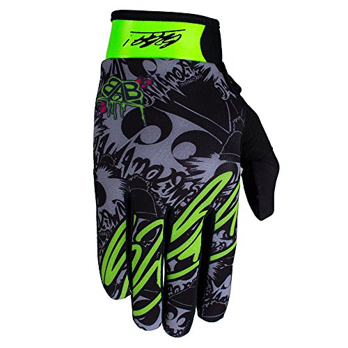 B2BA Clothing leichte Handschuhe Mountain Bike Downhill Enduro Motocross Freeride DH MX MTB BMX Quad Cross, schnelltrocknend, rutschfest und atmungsaktiv, 2020 STARS Neon Grün Schwarz, Größe XL