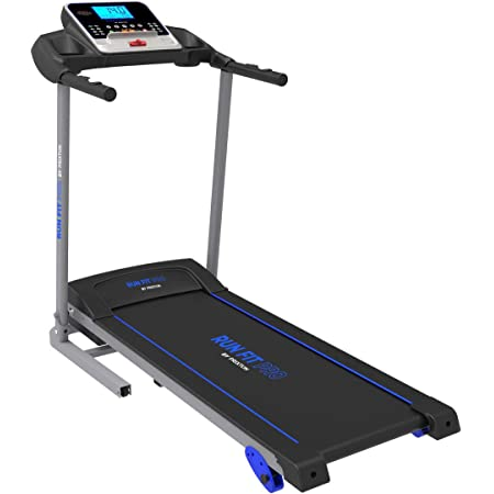 PRIXTON Run Fit RF200 - Cinta de Correr Electrica Plegable/Cintas de Andar Electricas Plegables con Velocidad e Inclinacion Regulable, Soporte Tablet/móvil, Pulsómetro y Pantalla LED