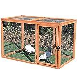 HYJBGGH Poulailler en Bois Poulailler, 45in Poulailler Extérieur Grand Poulailler en Bois Poulailler Cage À Volaille Adapté pour 5-10 Poulets Selon La Taille (Color : Wood Color -114.5x66x71.5 cm)