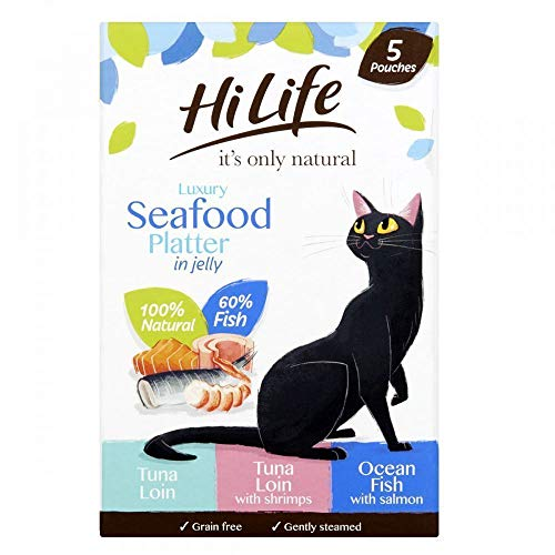 HiLife it's only natural - Wet Cat Food - Luxury Seafood Platter in Jelly...