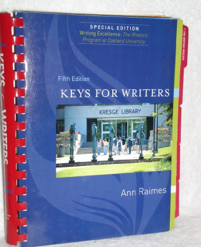 Keys for Writers, 5e, Special Edition for Oakland University