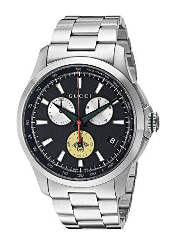 Gucci YA126267 - Reloj de Pulsera Hombre, Acero Inoxidable, Color Plat