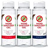 Kelly's Delight Hand Sanitizer Gel Scented 70% Alcohol, 8 fl oz (Christmas Holiday Variety | Evergreen, Candy Cane, Midnight Snow, 3 Pack)