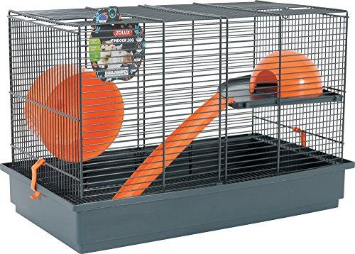 Zolux Indoor - Gabbia per Gerbille, Topi e criceti, 51 x 28 x 33 cm, Colore: Arancione