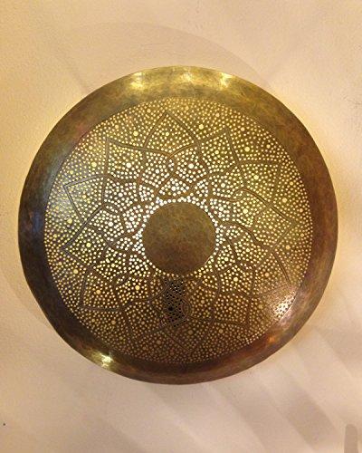 Orientalische Wandlampe Messinglampe Marrakesch Gold Rund