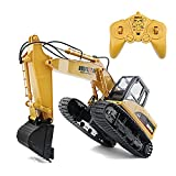 LGLE Excavadora de Control Remoto 1:14 RC Bulldozer Eléctrico RC Car Simulación Vehículo de Construcción RC Vehículo de Ingeniería para Niños Adultos Niños Adolescentes Niño,
