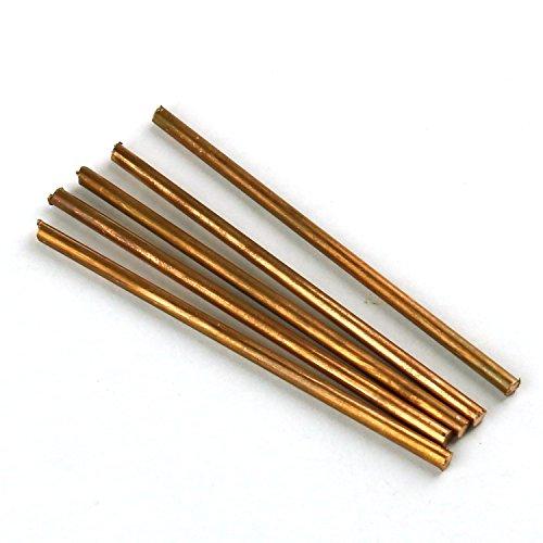Cilindro de metal Cu de cobre puro 99,9% 5 unidades, diámetro 4 mm, longitud 100 mm