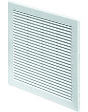 Ventilatierooster 30 x 30 cm afsluitrooster insectenbescherming 300 x 300 mm wit rooster ventilatie TRU 10