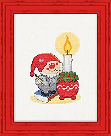 Manualidades Manteles Para Navidad.Amazon Es Manteles Navidad Kits De Punto De Cruz Contado