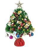 MXXDB bestwishes Pre-Lit Artificial Mini Christmas Tree 24Inch Small...